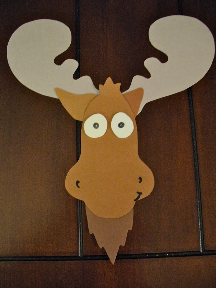 "Moose.  Could even do this to go with a lesson from ""If You Give a Moose a Muffin"" book. So cute!"
