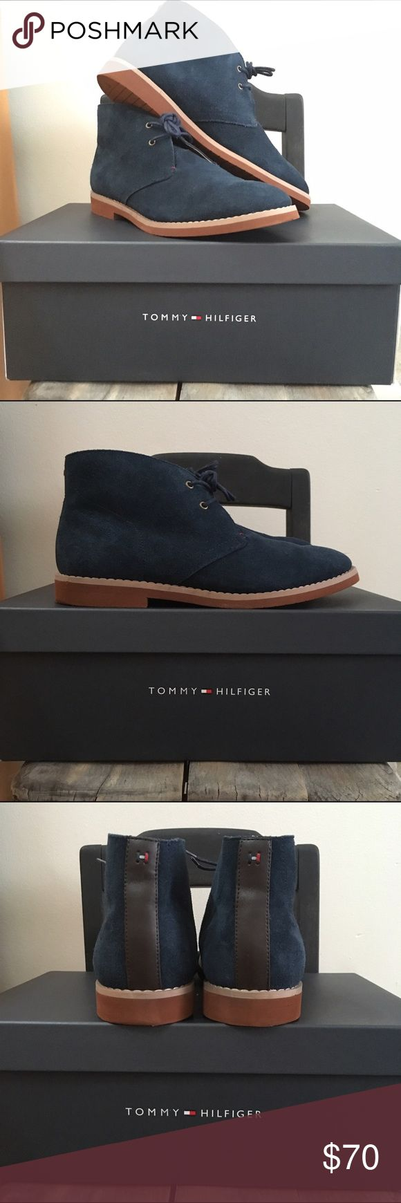 MEN'S TOMMY HILFIGER CHUKKA BOOT Tommy Hilfiger STEN chooka boot in NAVY BLUE. Worn only a handful of times- LIKE NEW Condition! Slight depressions in the heels of both shoes, otherwise still in perfect shape! Tommy Hilfiger Shoes Chukka Boots