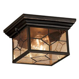 Front and back Patios (3) - Portfolio Litshire 1-Pack 9-1/16-in Bronze Outdoor Flush Mount Light