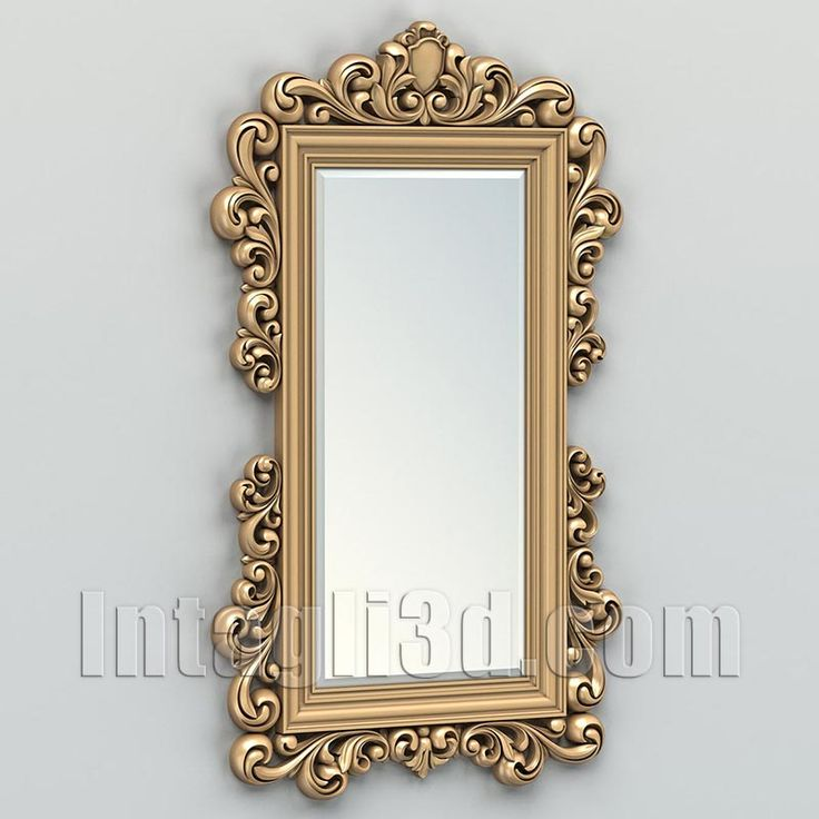 3D model for CNC routers and 3D printers (art. Rectangle mirror frame 011)