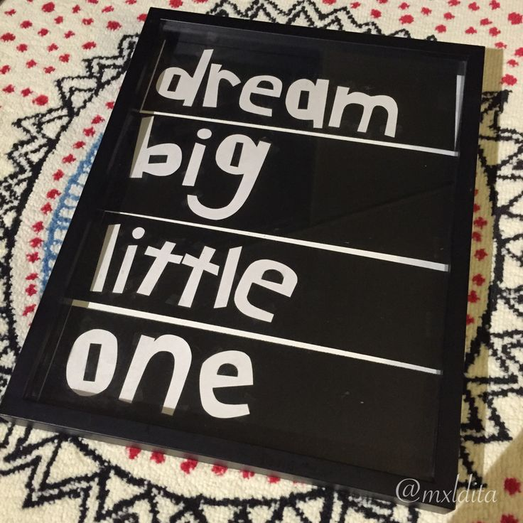 """dream big, little one."" (card stock, 2014)"