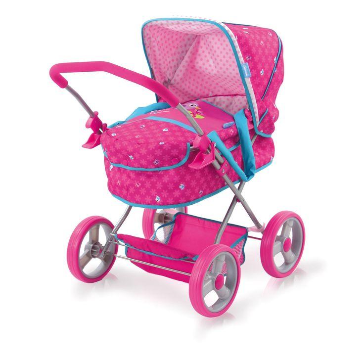 Neem je poppenbaby mee voor een gezellige wandeling in deze Birdie Poppenwagen. De wagen is gemaakt van stevig kunststof, metaal en afgewerkt met prachtige roze en blauwe details. leg je poppenbaby in de wandelwagen en geniet samen van de buitenlucht. Na het spelen vouw je de poppenwagen gemakkelijk in elkaar. Geschikt voor poppen tot 46 cm. Pop niet inbegrepen. Afmeting: verpakking 57,5 x 34 x 12 cm. - Hauck Poppenwagen Birdie