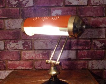 HARLEY DAVIDSON VINTAGE BANKER'S LAMP  RE-PURPOSED BANKER'S / PIANO LAMP FROM CIRCA 1940-1960