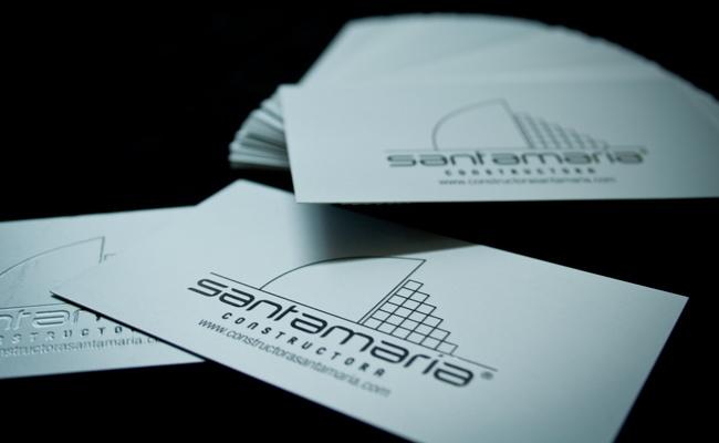 La Quinta Diseño Estrategico - Impresos - Tarjetas Personales constructora santamaria