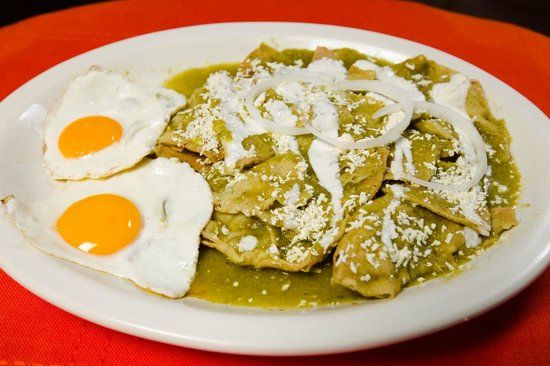 Chilaquiles () from the Nahuatl word chīlāquilitl  is a traditional Mexican dish. Description from imgarcade.com. I searched for this on bing.com/images