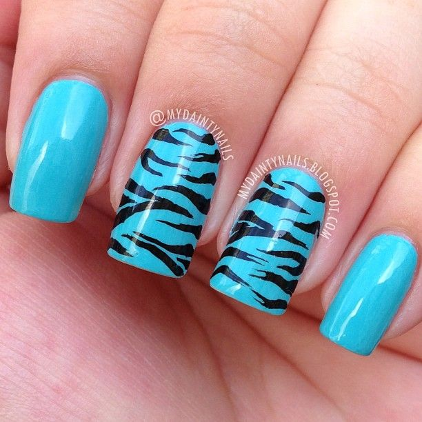 """Zebra print for day 28 of #nailartmay. Totally in love with @essiepolish """"In the ... 