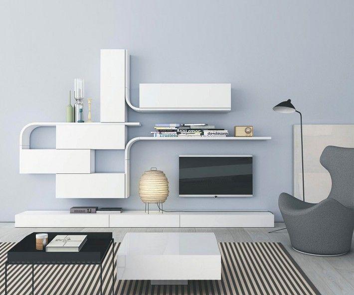 novamobili wave designer wohnwand gd 216 - Stylische Wohnwand