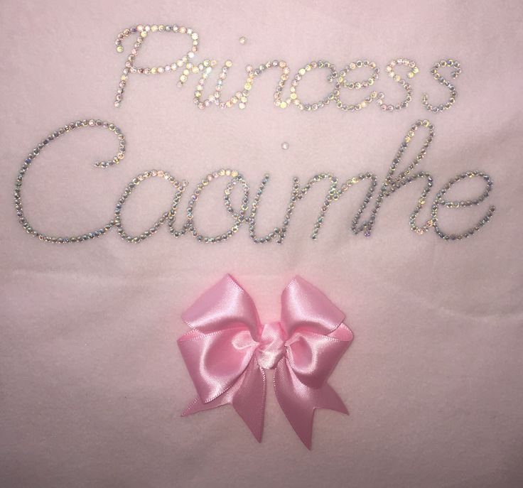 Princess Caoimhe personalised baby bling blanket xxx