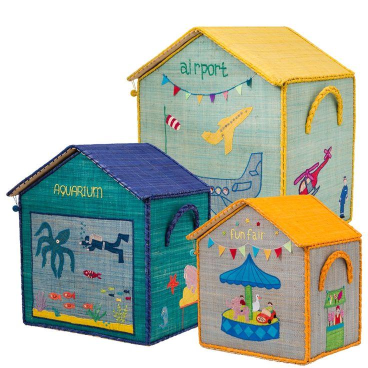 Nuevas cajas para guardar juguetes, primavera 2013. Rice dk. Almacenaje divertido y decorativo.