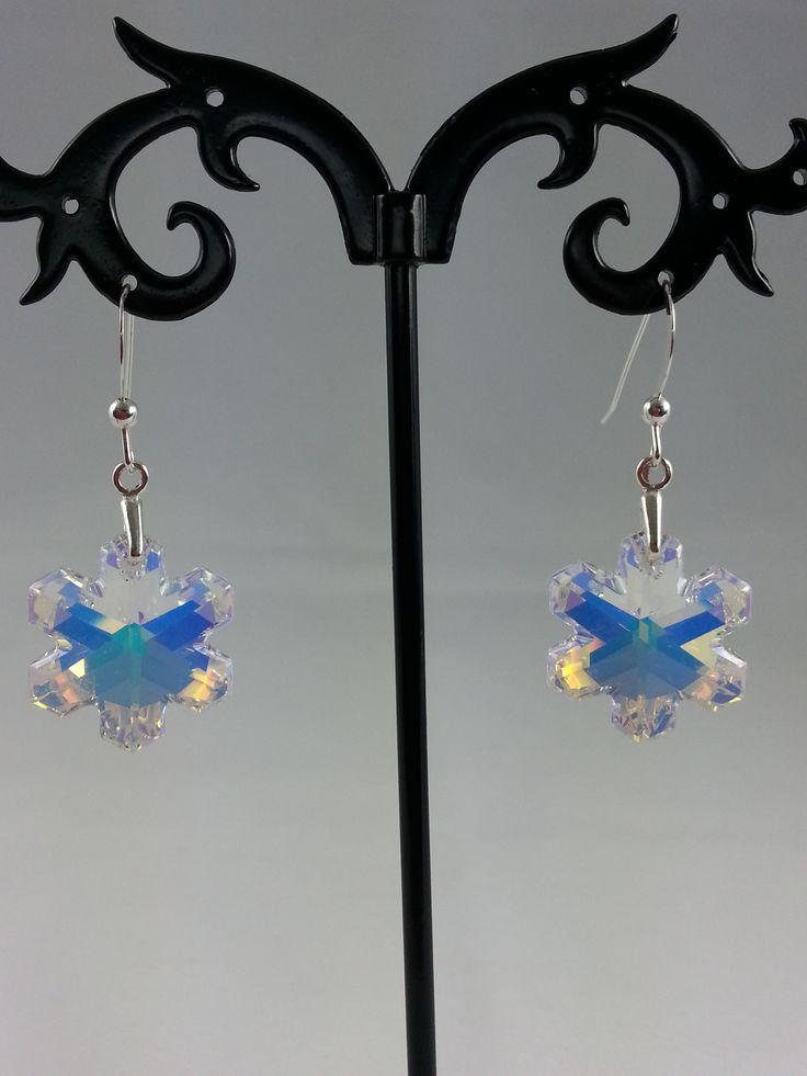 Swarovski snowflake earrings from set