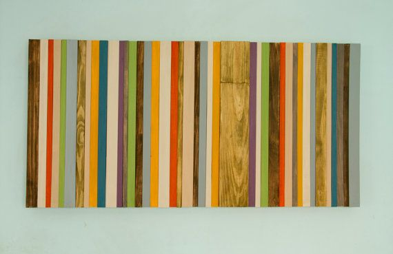Wood Wall Art  Mid Century Art Modern wood wall by ArtGlamourSligo