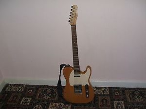 fender squire telecaster affinty blonde electric guitar. vgc