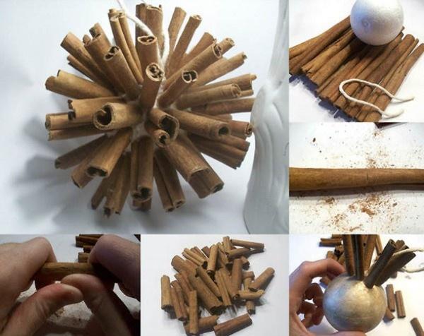 Cinnamon ball ornament