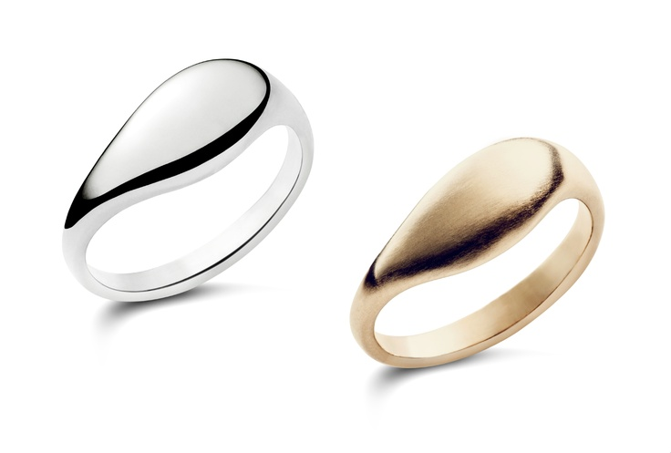 Caroline Swolfs Jewellery | La goutte galet wedding ring men & women | silver & matt gold | #Ring