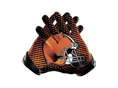 Nike Vapor Jet 2.0 (NFL Browns) Men's Football Gloves - $100.00  Just for Nate :)