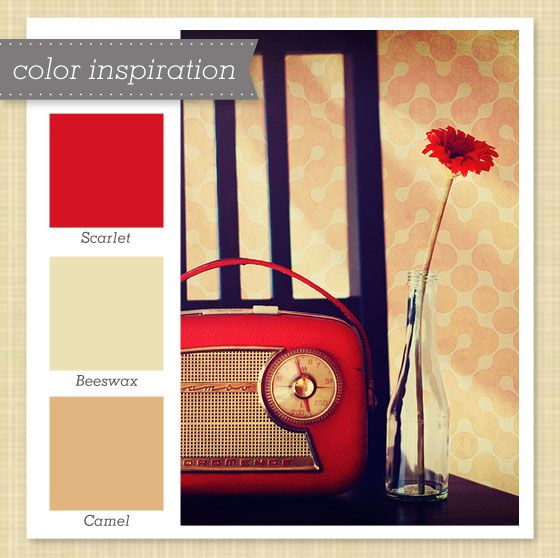 Red and Tan Color Palette by Sarah Hearts