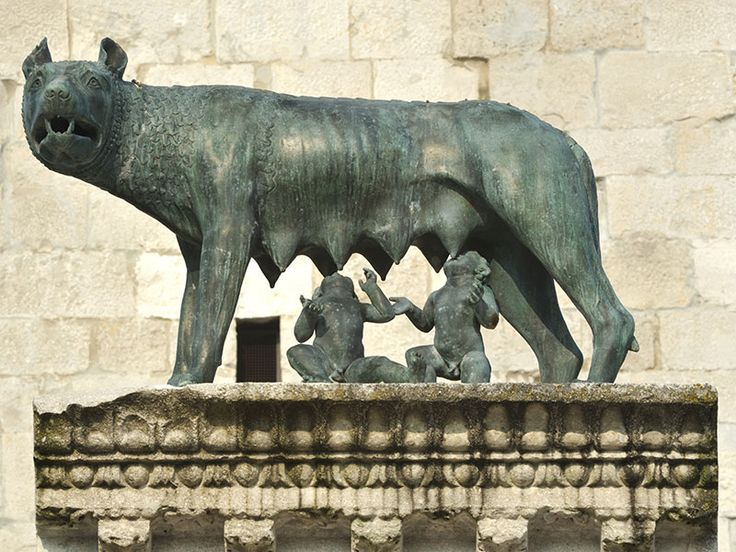 Aquileia - Statue of the Capitoline Wolf with Romulus and Remus