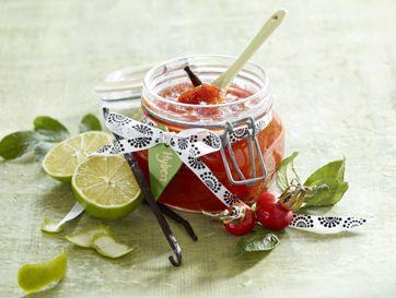 Hybenmarmelade med lime og vanilje