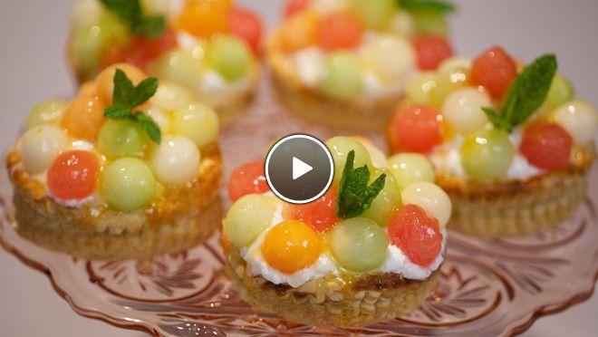 Frisse meloengebakjes met yoghurtmousse - Rudolph's Bakery | 24Kitchen