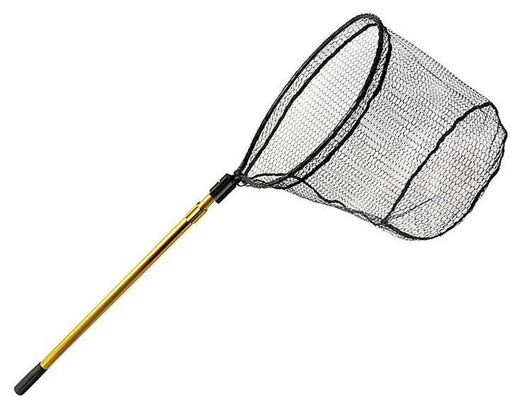 Bass pro shops gold series 34 39 39 67 39 39 telescoping handle for Fishing hoop nets