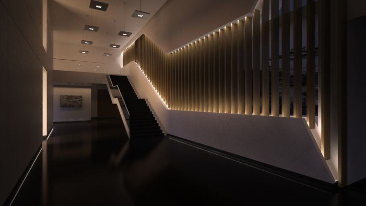 Diseño hall oficinas en Madrid