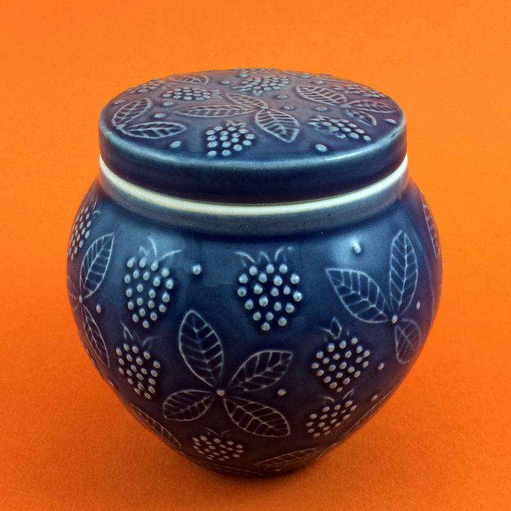ARABIA Finland * CHYMOS OY * Lidded JAM | Condiment Jar or Pot * Ulla Procope