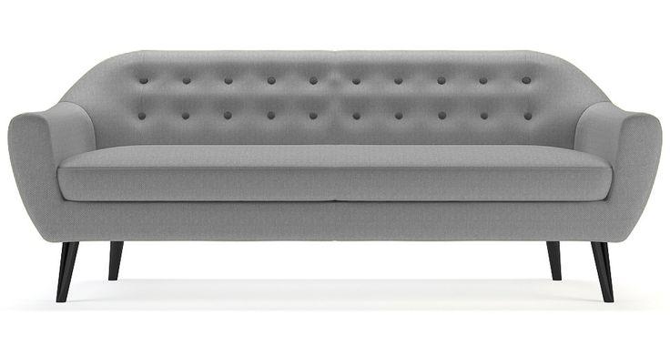 Brosa Kraesten 3 Seater Danish Style Couch - Wolf Grey | $1,049.00