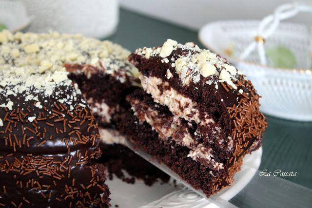 Torta al cioccolato con crema al mascarpone e caramello mou (anche senza glutine)