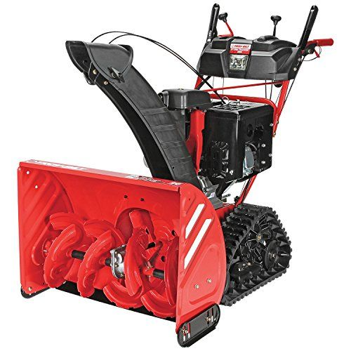 "Troy-Bilt Storm Tracker 2890 277cc Electric Start Gas Snow Thrower Powered by a  277cc 4-cycle OHV Electric Start gas engine makes clearing large areas of snow quick and easy Clears snowy walkways up to 28"" wide and 21"" deep in one pass Touch 'n Turn power steering and heated grips provide ultimate ease and comfort for snow removal https://homeandgarden.boutiquecloset.com/product/troy-bilt-storm-tracker-2890-277cc-electric-start-gas-snow-thrower/"