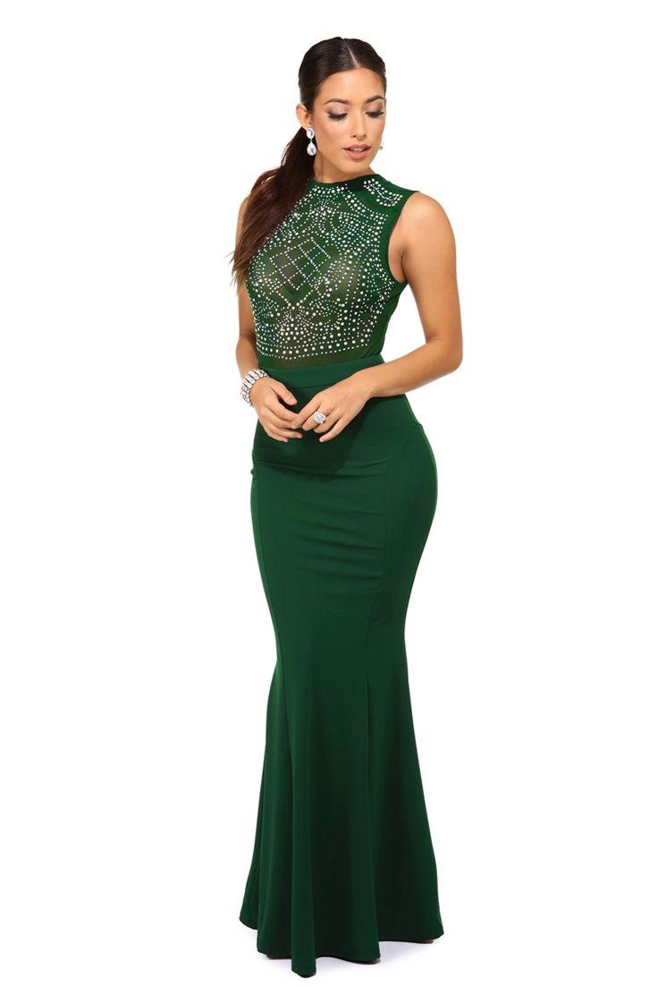 Prom dress new arrival 2016 mermaid pageant dress emerald green - Matilde Emerald Beaded Prom Dress Dress Silhouettemermaid Skirtformal