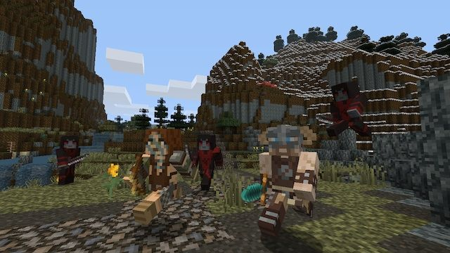 Minecraft on Switch gets Skyrim Fallout texture packs   We listed a bunch of details from the recent Minecraft update on Switch but here's some content you might not be aware of. Both Skyrim and Fallout texture packs are available! These have been on other platforms for quite some time so it's nice to see the Switch get in on the fun.  from GoNintendo Video Games