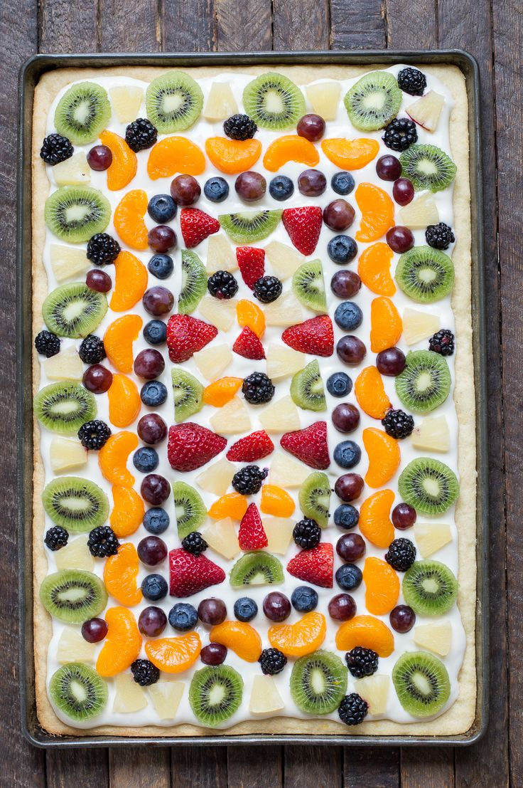 459 best dessert recipes images on pinterest easy fruit pizza recipe on a soft sugar cookie crust a traditional cream cheese topping forumfinder Image collections