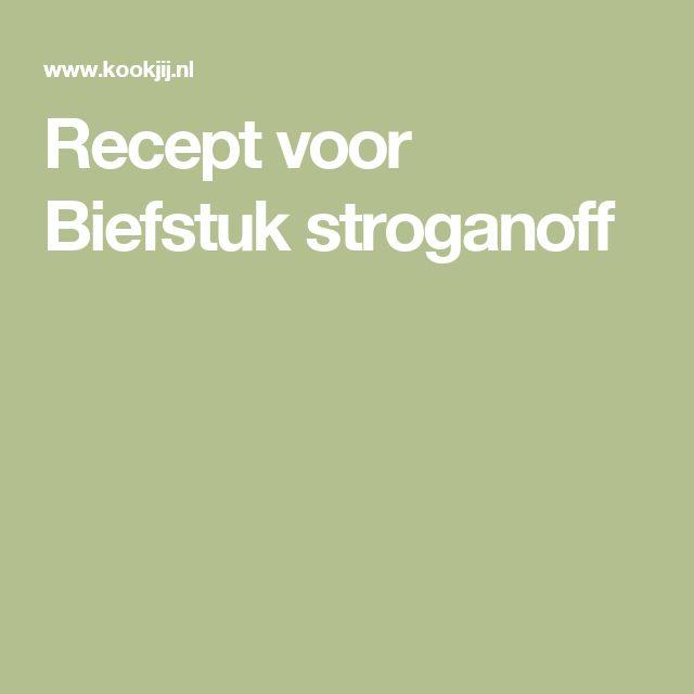 Recept voor Biefstuk stroganoff
