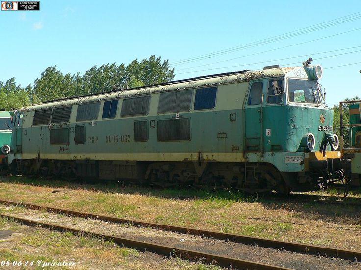 Тепловоз SU45-062 в депо Черемха, Польша