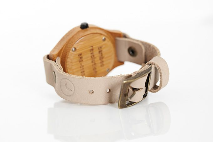 Back of bamboo watch face
