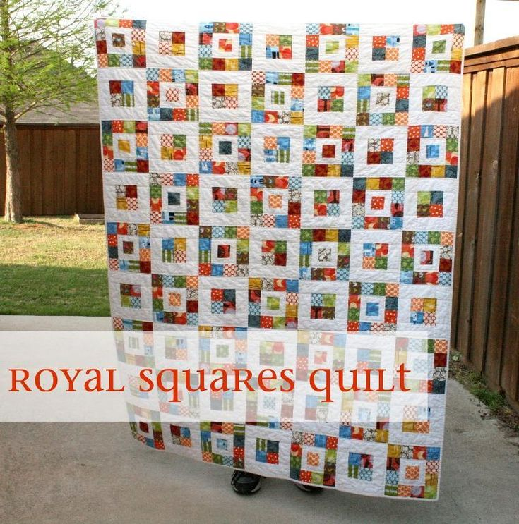 """This free quilt pattern is called, """"Royal Squares"""". Here's some info from the creator – """"What I love about this pattern is that it's perfec..."""
