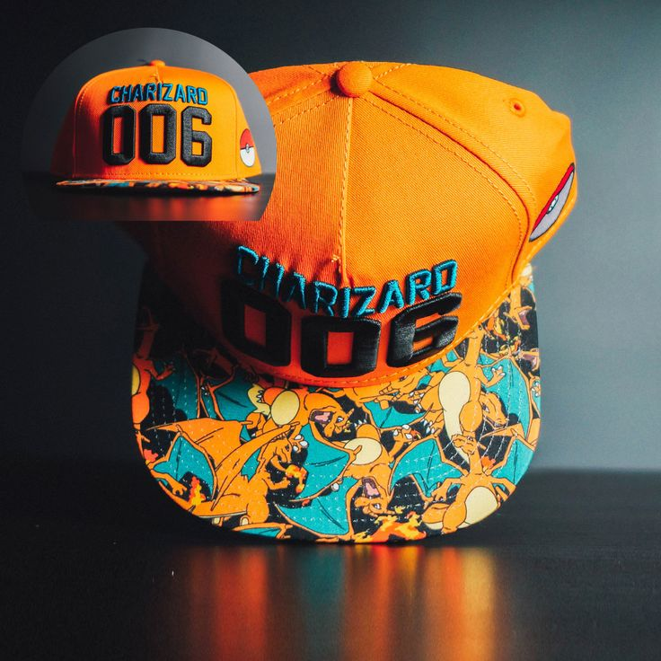 cool Snapback Baseball Cap Hat Charizard Pokemons Pokemon Go