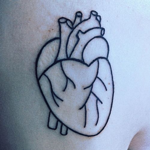 Image result for human heart outline tattoo