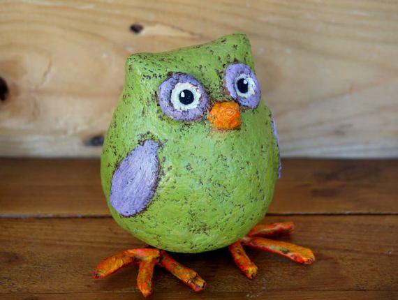 Paper Mache Owl!