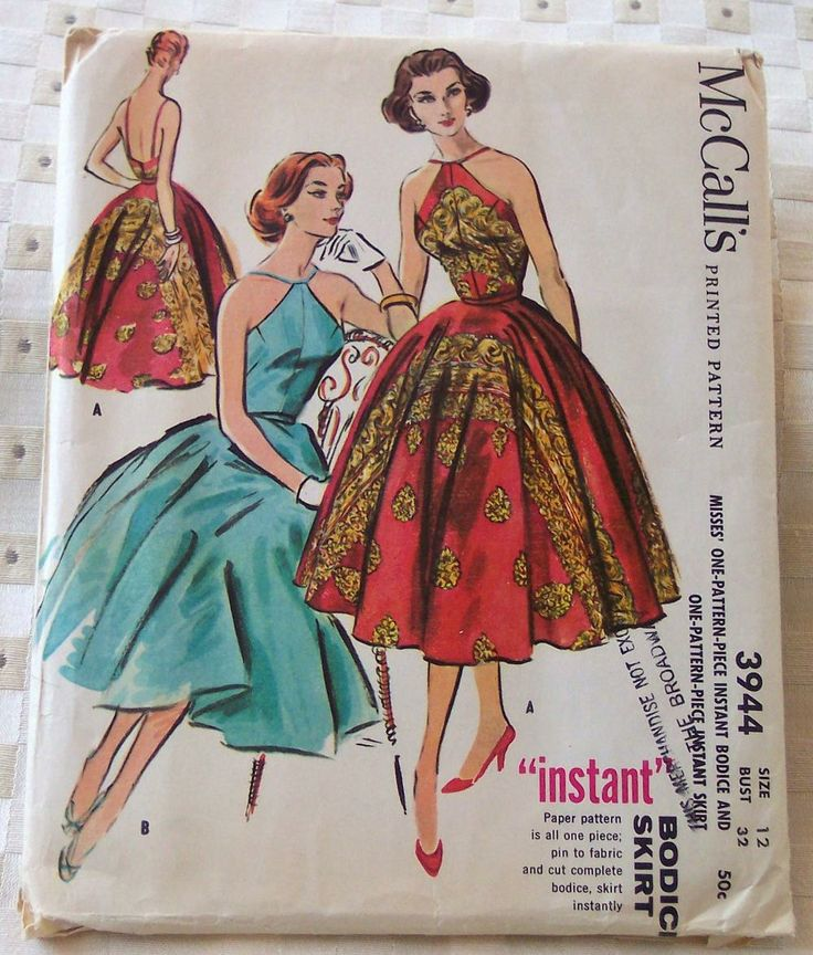 McCall's 3944 bodice & skirt--it looks like the red dress was made from a sari