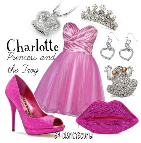 """Charlotte is my favorite """"The Princess and the Frog"""" character, and I ♥ the pink and silver of this Disneybound outfit!! ♥"""
