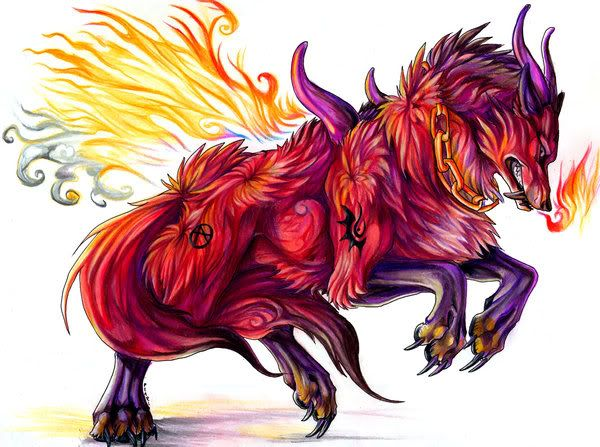 Anime Elemental Wolves | fire wolves photo Trean.jpg ...