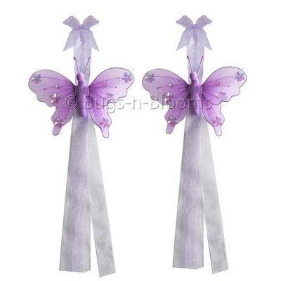 Bugs-n-Blooms Butterfly Curtain Tieback Color: Purple