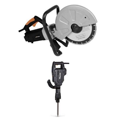 evolution disccut1 12inch disc cutter with tr industrial tr89305 60 joules electric jack hammer