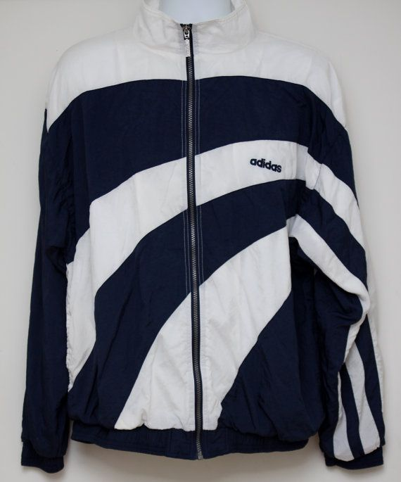1d620f0af9a6 Rare 90 s Vintage ADIDAS Windbreaker Jacket by TheStandoutTieShop ...