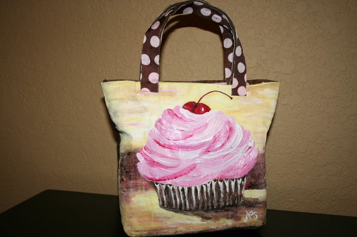painted purses   Hand Painted Canvas Tote Bag by inspireu2 on Etsy
