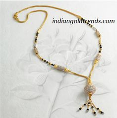 Latest Indian Gold and Diamond Jewellery Designs: Trendy Black Beads/Mangalsutra