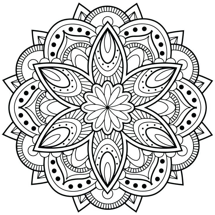 Printable Mandala Coloring Pages For Adults World Of Printable And