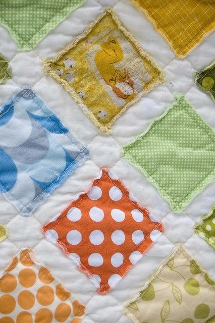 raw edges--super fast and easy baby quilt by julie817