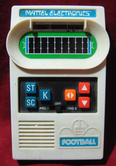 mattel electronic football. never could figure this stupid thing out.